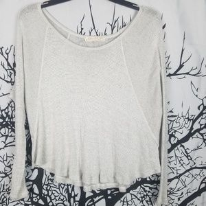 Joah Brown | Cropped Sweater Light Grey s/m